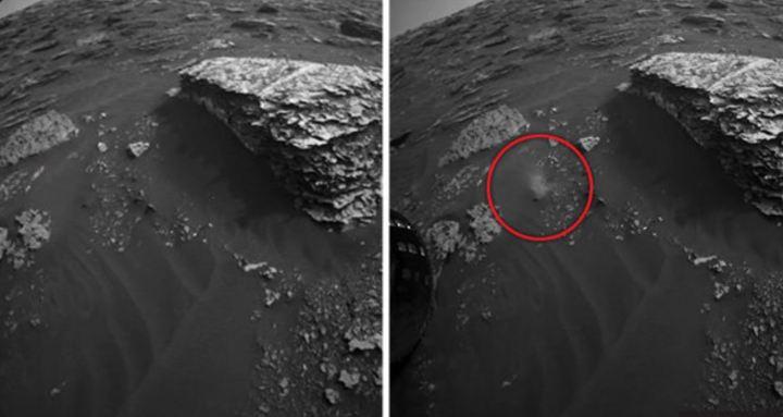 Algo se moveu no solo marciano perto do jipe-sonda Curiosity