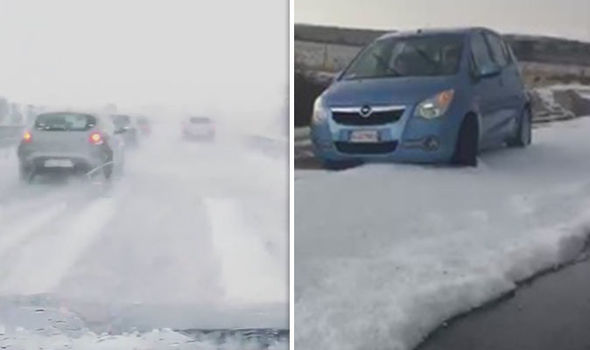 Ilha italiana fica sob gelo em plena onda de calor