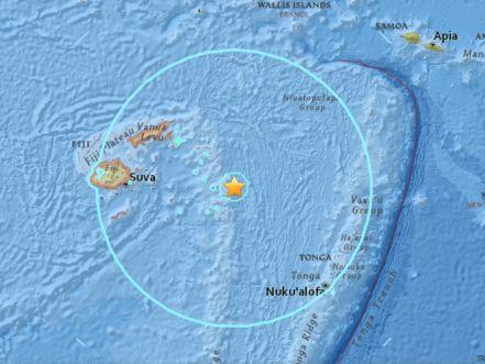 Terremotos de 8,2 e 6,8 atingem Fiji