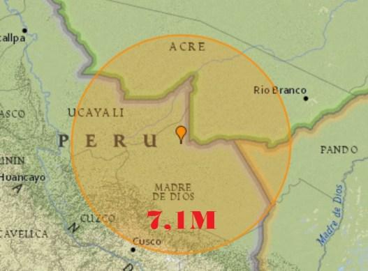 Forte terremoto abala a fronteira do Peru com o Brasil