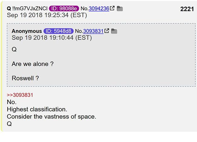 Q confirma o Programa Espacial Secreto e a vida extraterrestre 1