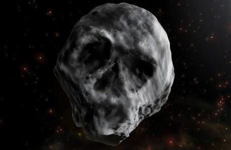 Asteroide com formato de crânio se aproxima da Terra