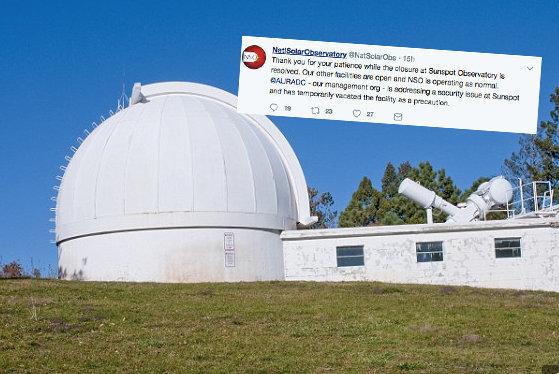 Mais 6 observatórios solares fechados - intervenção do FBI no Observatório Solar dos EUA