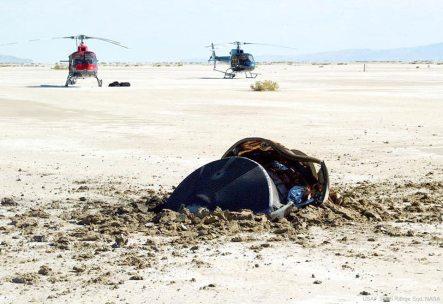 """NASA publica fotos de seu """"disco voador"""" acidentado"""