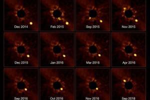 Astrônomos mostram vídeo de exoplaneta transitando em frente à sua estrela