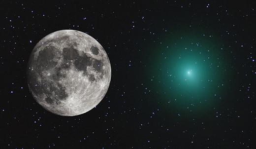 Cometa ainda não se aproximou da Terra e já está tão grande quanto a Lua 1