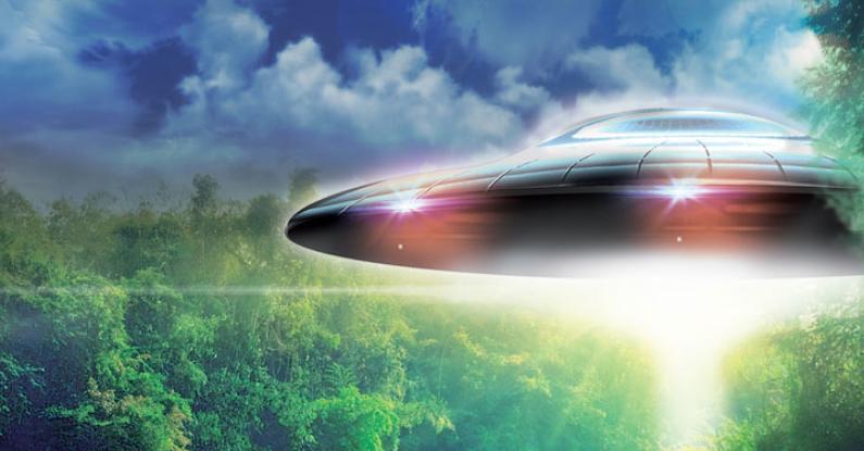 Disco voador gigante sobre Manaus