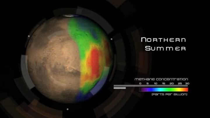 todo o metano de Marte misteriosamente desapareceu
