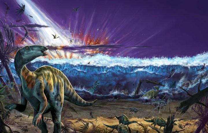 Asteroide que matou dinossauros causou tsunami de 1,5 km de altura