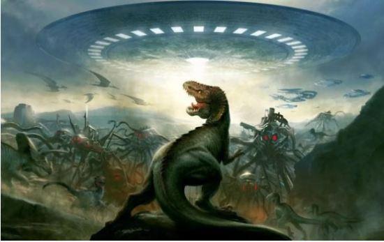 civilização tecnologicamente avançada na era dos dinossauros