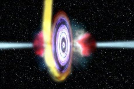 Jato de rádio do centro da galáxia está apontado para a Terra