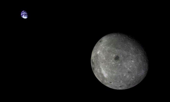 Jipe-sonda chinês começa a andar pela face oculta da Lua 1