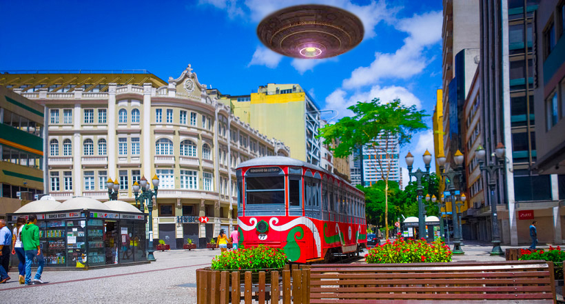 Curitiba é considerada a capital brasileira dos avistamentos de OVNIs