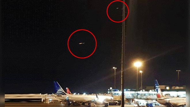 Dois OVNIs são filmados sobre o aeroporto do Peru