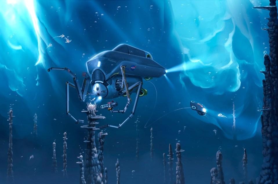 Que vida alienígena poderia viver no mega oceano de lua de Júpiter? 3