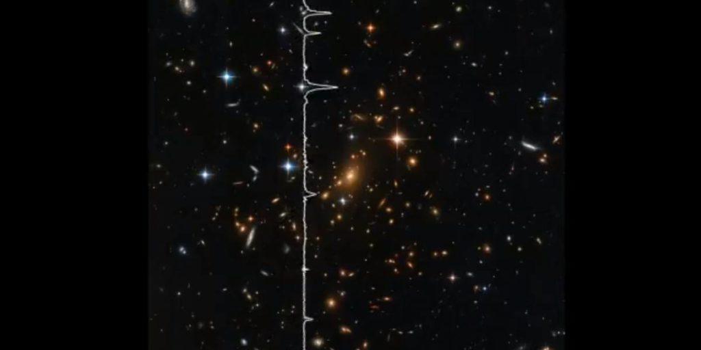 NASA transforma luz de galáxias em som