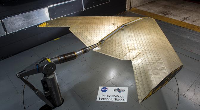 Nova tecnologia de asa poderá revolucionar a indústria aeronáutica - NASA/MIT 1