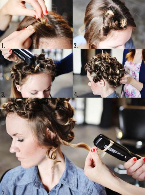 как накрутить волосы утюжком фото