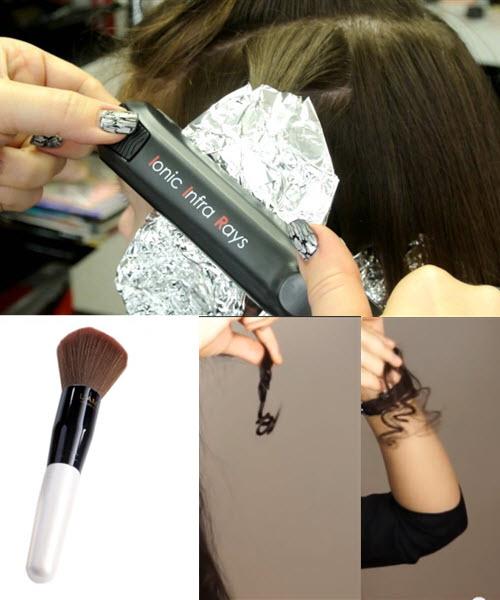 как накрутить волосы на утюжки с фольгой