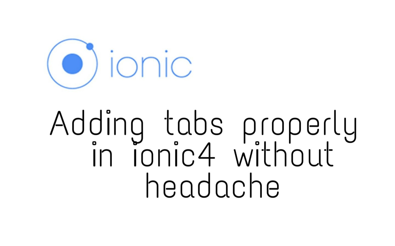 How to add tabs in ionic 4 | OvpV