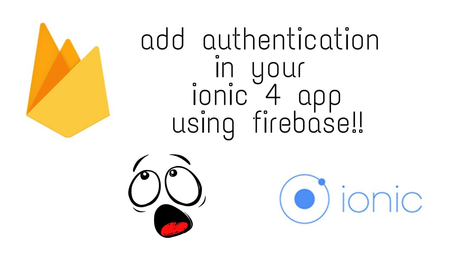 Create login system in ionic 4 with firebase | OvpV