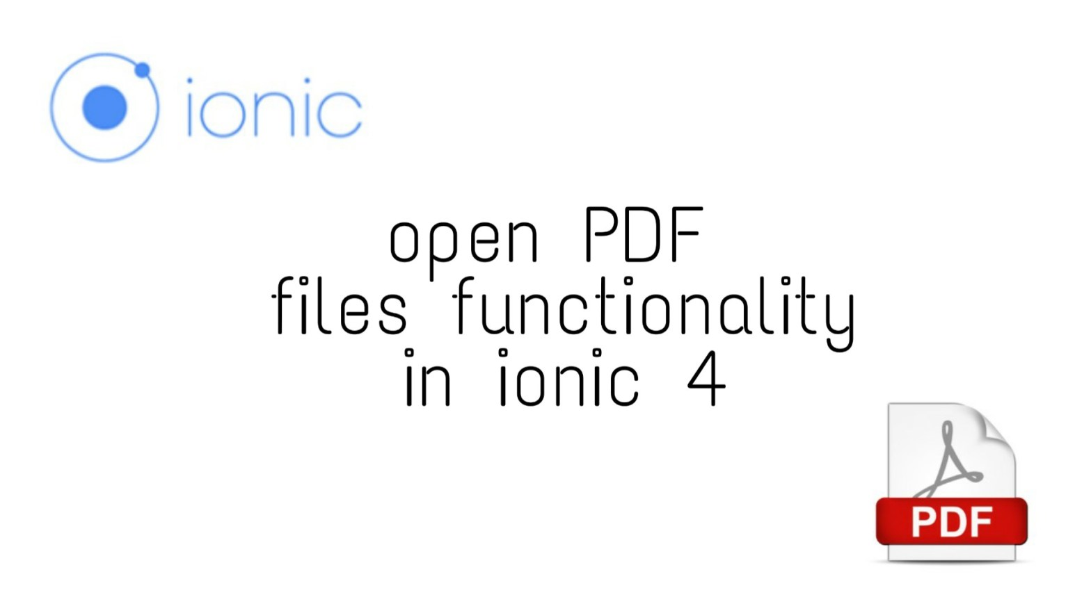 Open Documents in ionic 4 app : step by step Integration guide | OvpV