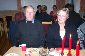 Reidar og Gyro Loland. Gyro fortalte om julemattradisjoner fra Bykle.