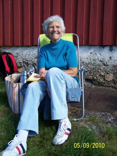 Karen Kalleberg fortalte om sine forfedre som kom fra Fleskåsen.