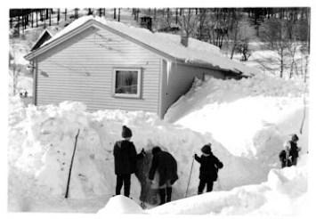 Snø i Vormebrokka 1966