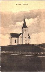 Øvrebø kirke tidlig på 1900-tallet