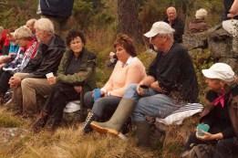 Daghild og Kjell Anders Greibesland, Wally Godhei, Unni og Helge Skuland, og så er det den personen som jeg ikke kjenner navnet på.