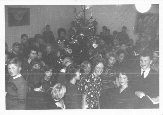Juleavslutning på Ilebekk skule 1962.