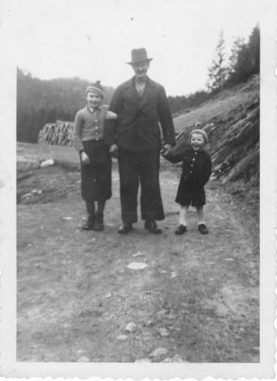 Anders, Gunvald og EIvind Godhei.