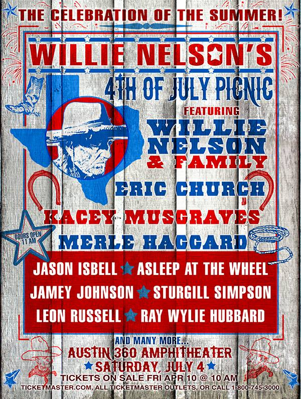 Willie Nelson 4th of July Picnic
