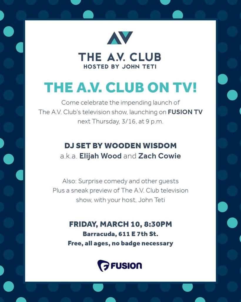 AV Club SXSW