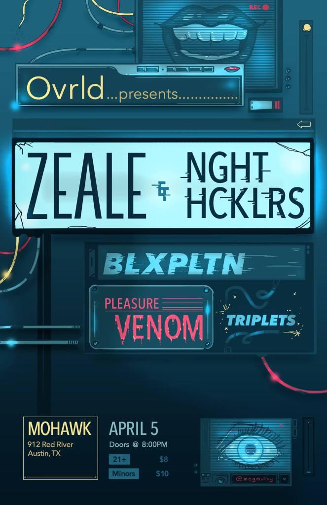 Zeale NGHT HCKLRS BLXPLTN Pleasure Venom Triplets Mohawk