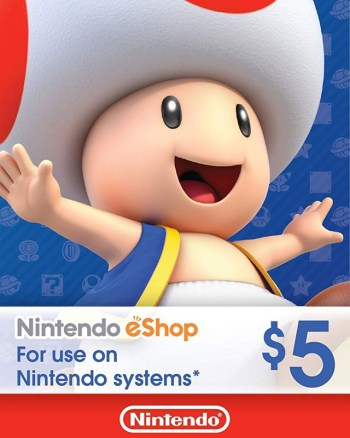 $5 Nintendo eShop Gift Card