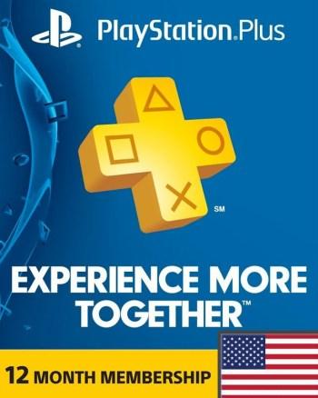 12 Month Playstation Plus Region 1 (USA)