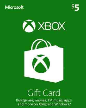 $5 Xbox Gift Card