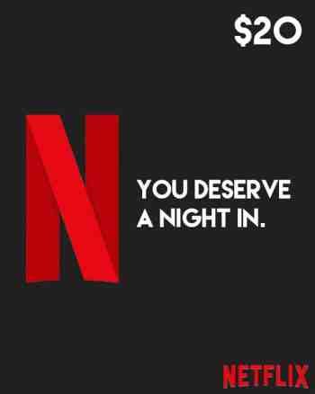 $20 Netflix Gift Card