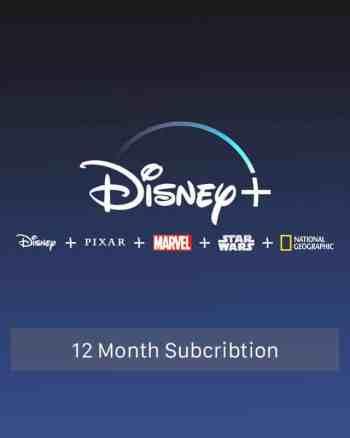 Disney Plus 12 Month Subscription