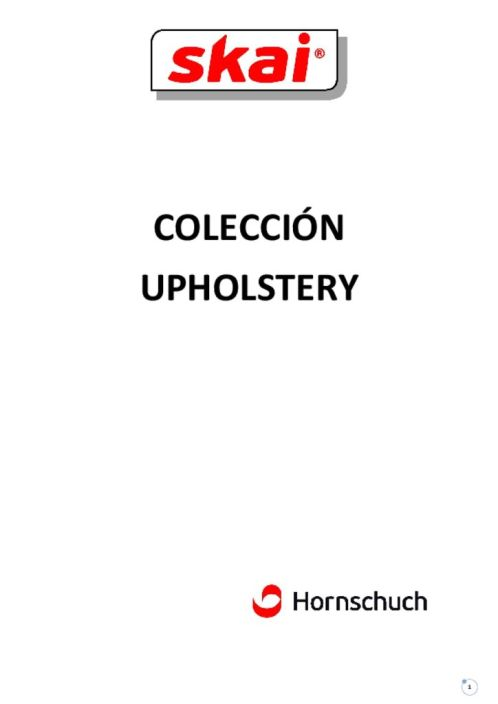thumbnail of Catalogo Skai Coleccion Upholstery