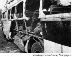 The aftermath of the OTC bus bombing.