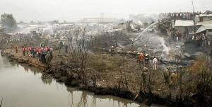 The interestingly-named Sinai slum burns.