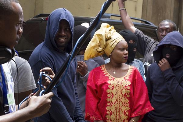 Shooting the Pastor Kangai kidnap scene.