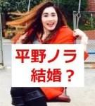 平野ノラが結婚?婚約した相手の職業や年齢は?出会いのきっかけは?