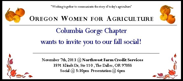 Columbia Gorge Chapter - Fall Social