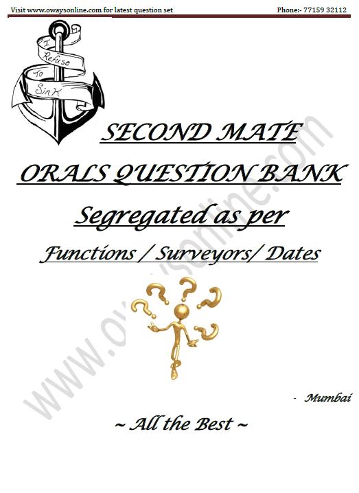 2nd Mate MMD Orals Surveyor Question Set Mumbai updated
