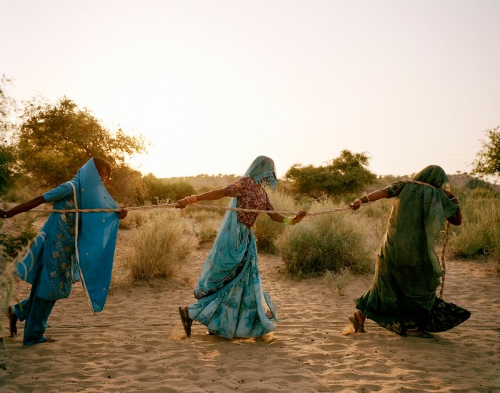 "Women pull water from a well in the Thar desert, where temperatures hover at 48-50°C on summer days. With an extremely low water table and continuing drought, sometimes water must be hauled from a depth of 150-200 feet. ""Women fall unconscious on their way to these dug wells,"" says Marvi Bheel, 45, a resident of Bewatoo, Tharparkar. The journey can take up to three hours. From the water-scarce regions in southern Ethiopia to the desert wells of Pakistan, it is women who are primarily responsible for gathering water.  Credit: WaterAid/ Mustafah Abdulaziz Mustafah Abdulaziz is an American documentary photographer based in Berlin. His on-going project 'Water' has received support from the United Nations and VSCO. In 2012, he was named one of PDN's 30 Emerging Photographers to Watch, and is the winner of the Syngenta photography award, 2015. Mustafah is working with WWF, WaterAid and Earthwatch to document images and stories highlighting the global water crisis. These powerful images form the Water Stories photographic exhibition supported by the HSBC Water Programme. The exhibition will open in New York to coincide with Photoville, 21 September 2016, and will be on public display by the East River in DUMBO throughout October. The exhibition adds previously unexhibited images from Mustafah's shoot in New York this summer. Water Stories first launched in Stockholm to coincide with the 25th anniversary of World Water Week and Stockholms Kulturfestival in August 2015, and was also shown in London to mark UN World Water Day, in March 2016.  PAKISTAN Pakistan is one of the most populous countries in the world, and urbanization and political instability have resulted in millions of people lacking access to safe water and sanitation. While progress has been made, 16 million people still do not have access to safe water and 68 million people do not have access to a toilet – more than half of the country's population. Desert areas make up a substantial portion of the country's geography, especially in the central and southeastern regions. In the Thar Desert, Sindh province, families lead a semi-nomadic lifestyle, migrating every three years in search of water. Women spend on average four to six hours a day trekking in the blistering heat to reach unprotected wells. Groundwater is contaminated by saline and fluoride from natural sources, affecting a large population; residents experience hypertension and fluorosis, a condition which causes skeletal damage and bone deformities. In coastal areas, availability of water dictates the rhythm of daily life, with floods occurring in the rainy season and droughts in the dry season. In recent years, the district of Thatta has experienced six major natural disasters including the severe floods of 2010-11, which inflicted widespread damage and halved the country's potential economic growth."