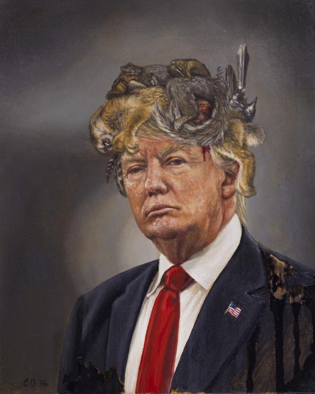 donald-trump-with-a-crown-of-roadkill-by-cara_deangelis